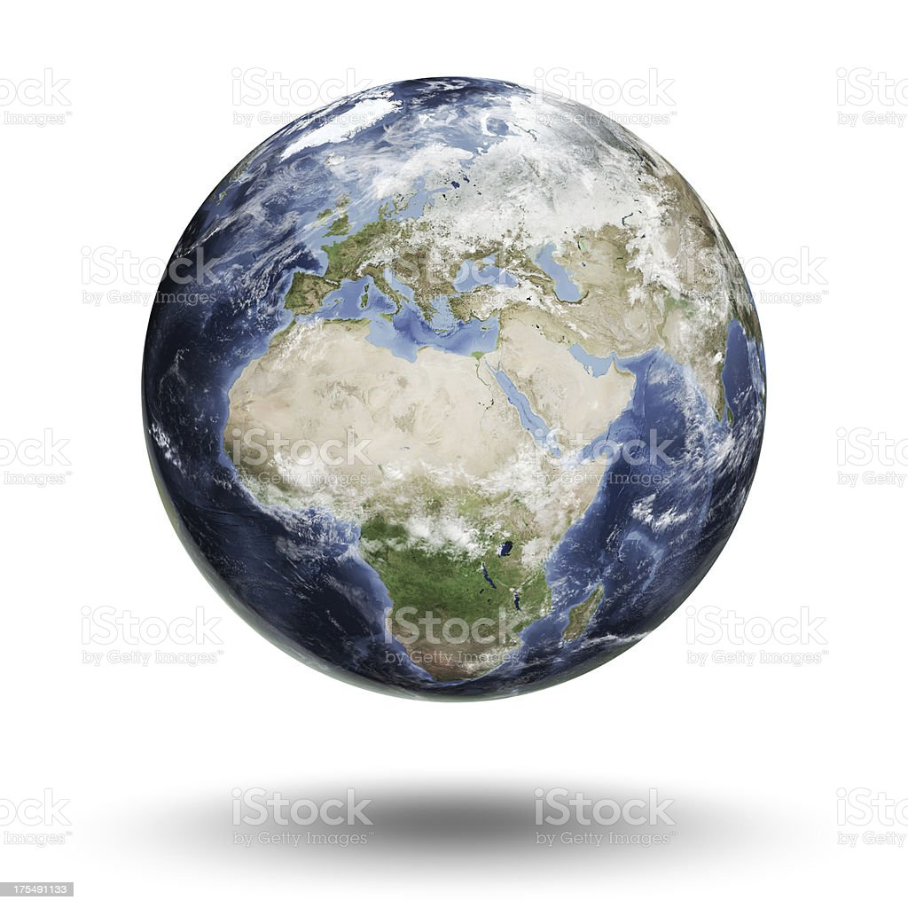 Earth - European Eastern Hemisphere stock photo
