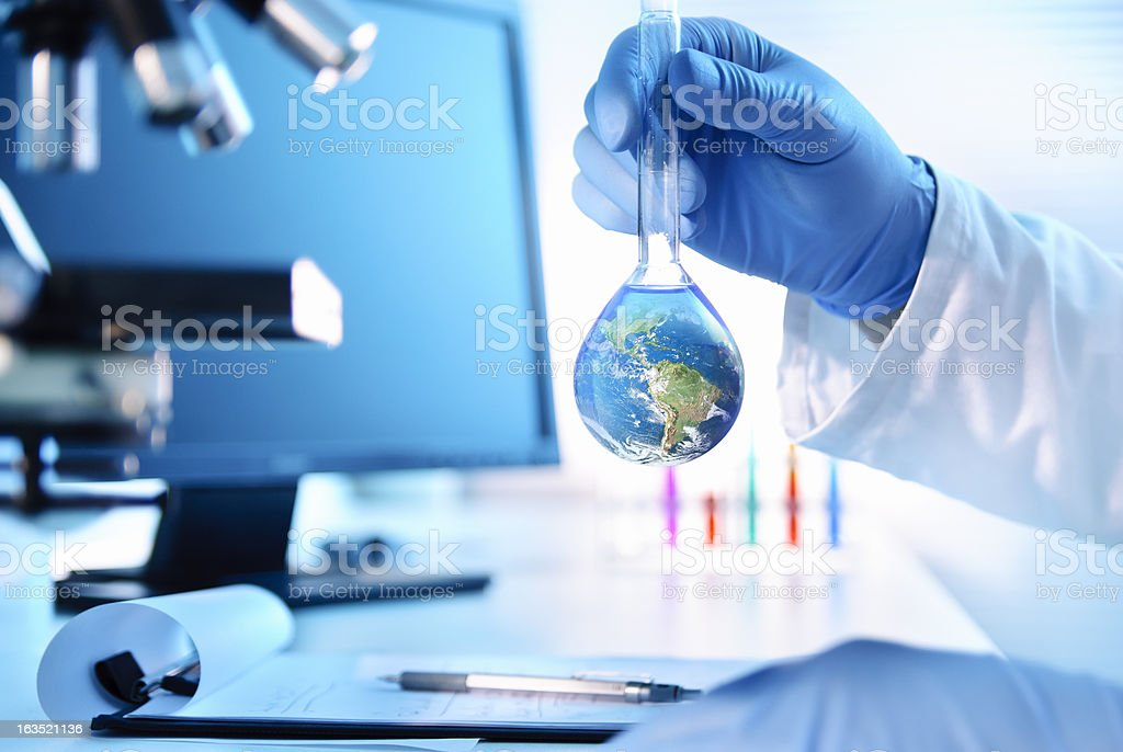 Earth Experiment stock photo