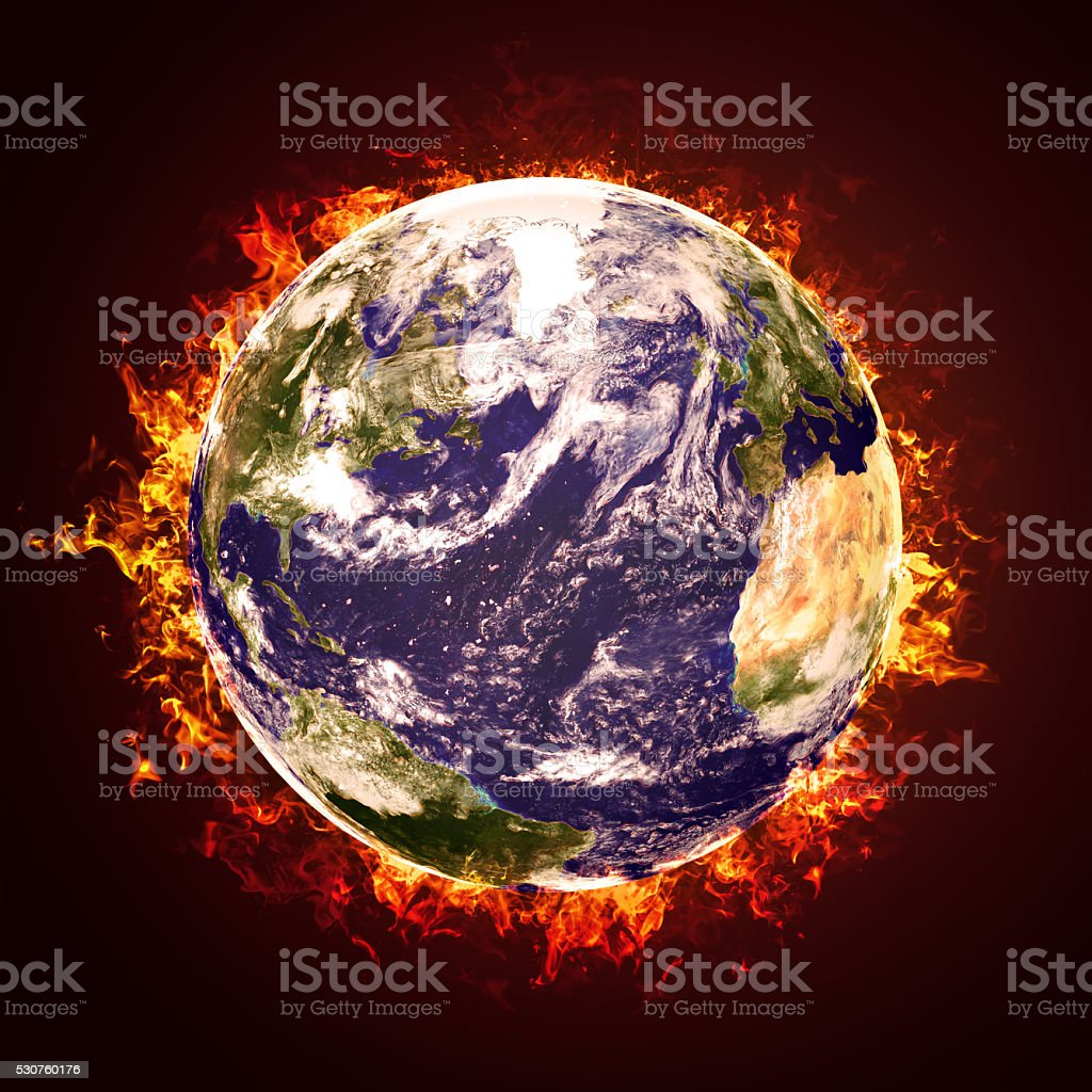 Earth Fire stock photo