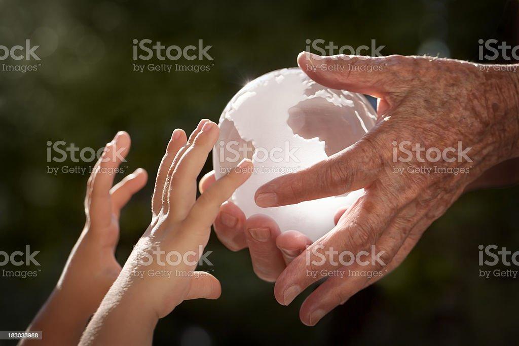 Earth fragile future stock photo