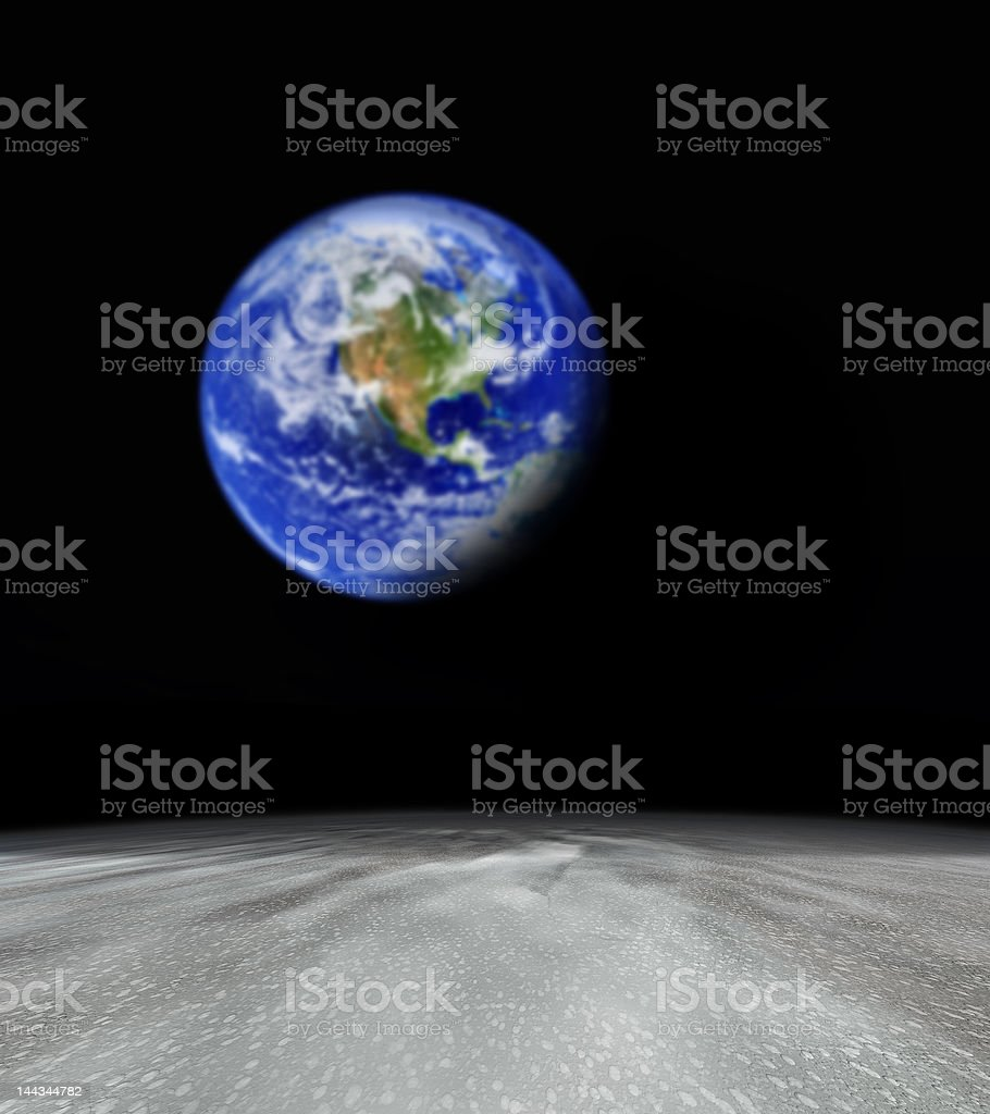 earth from abstract planet stock photo