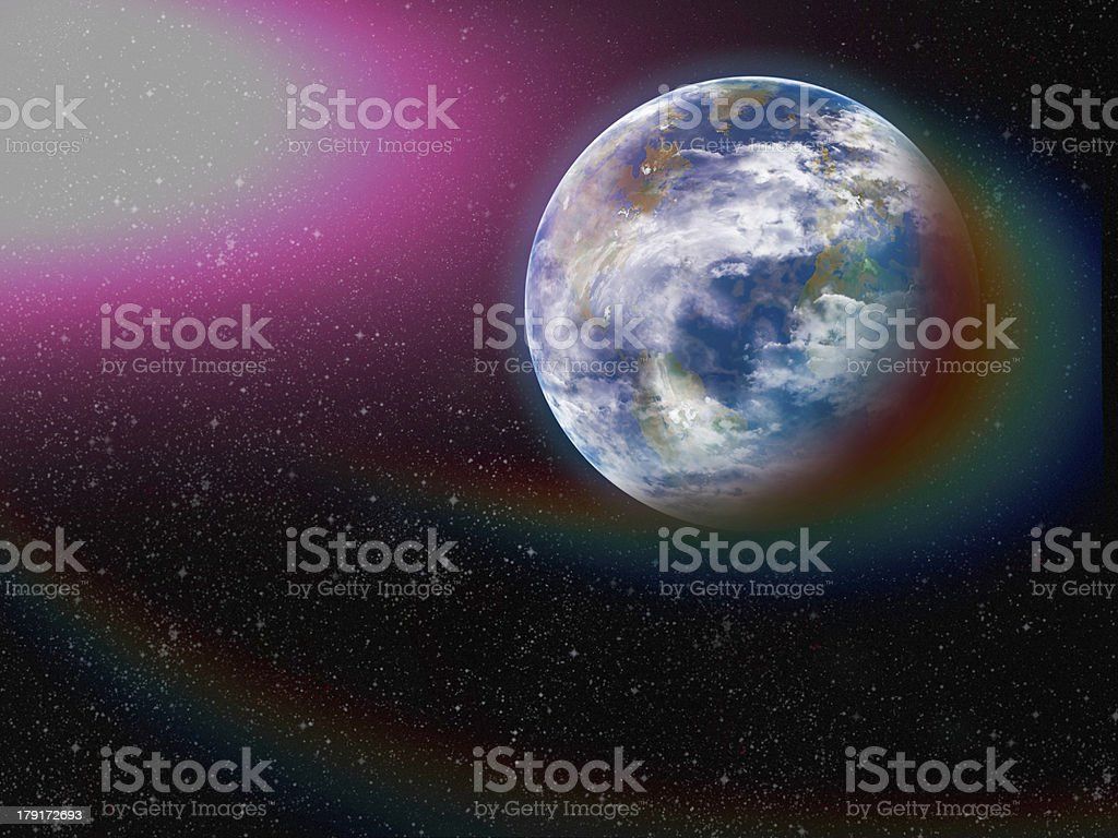 Earth from space. Elements of this image furnished by NASA. royalty-free stock photo