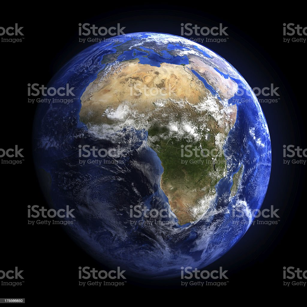 Earth from space showing Africa. royalty-free stock photo