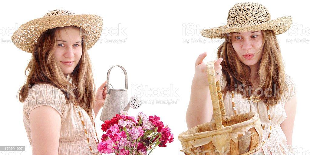 earth girl series - flower power stock photo