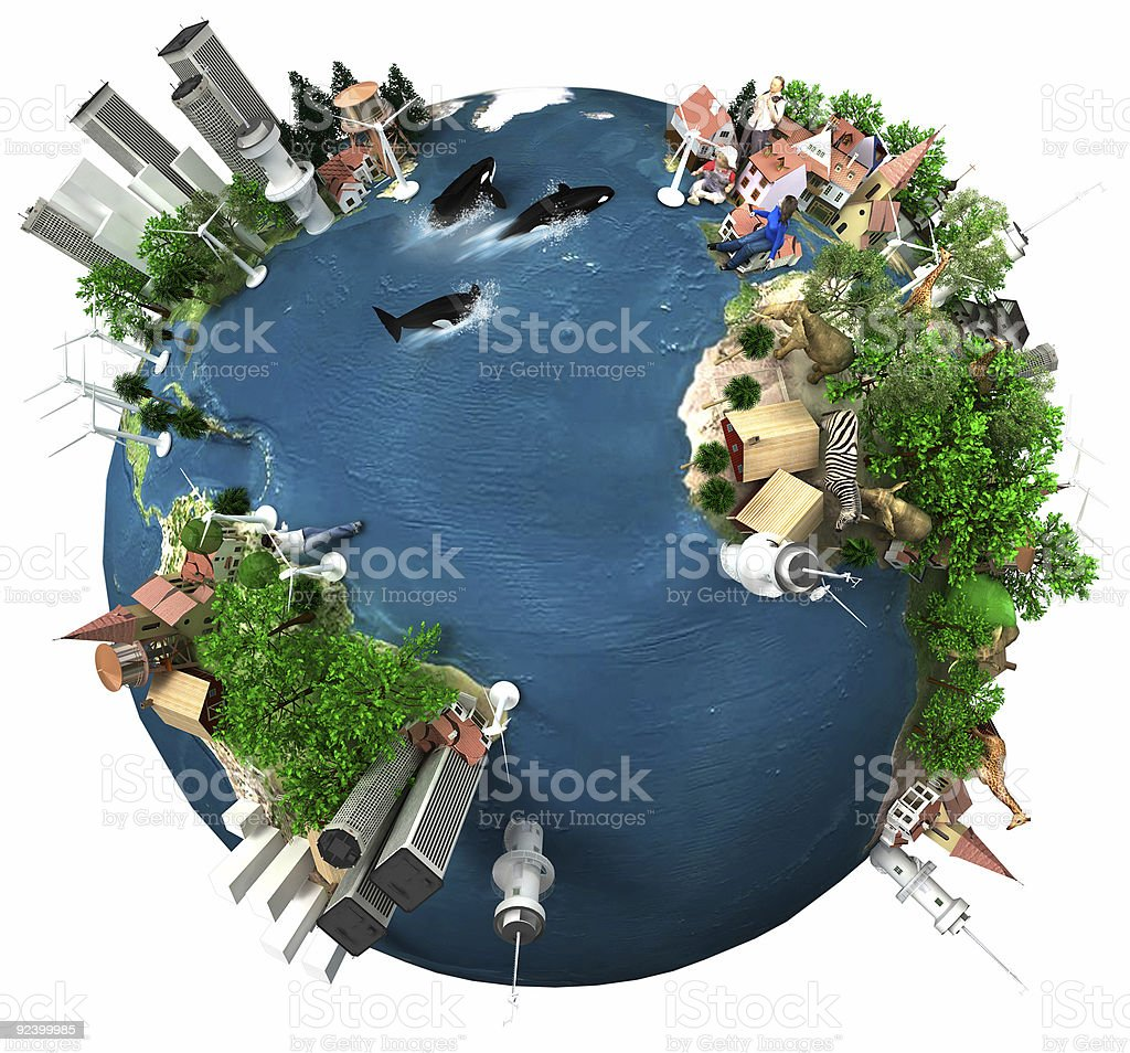 "Earth ""Global Village"" stock photo"