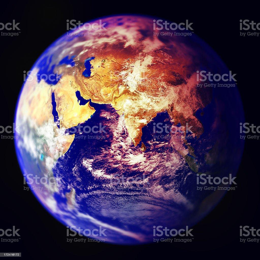 Earth - Global warming royalty-free stock photo