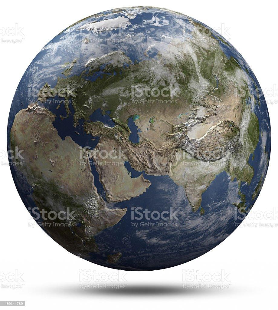 Earth globe - Eurasia stock photo