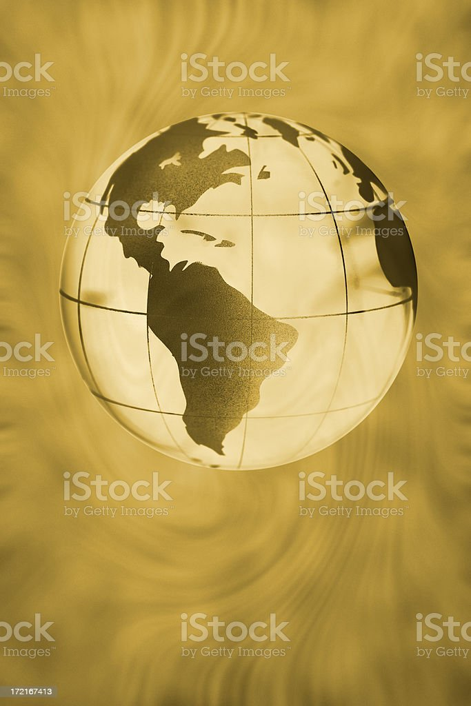Earth globe royalty-free stock photo