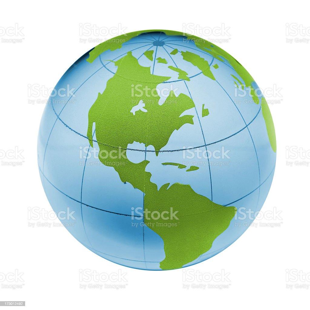 Earth globe (clipping path) royalty-free stock photo