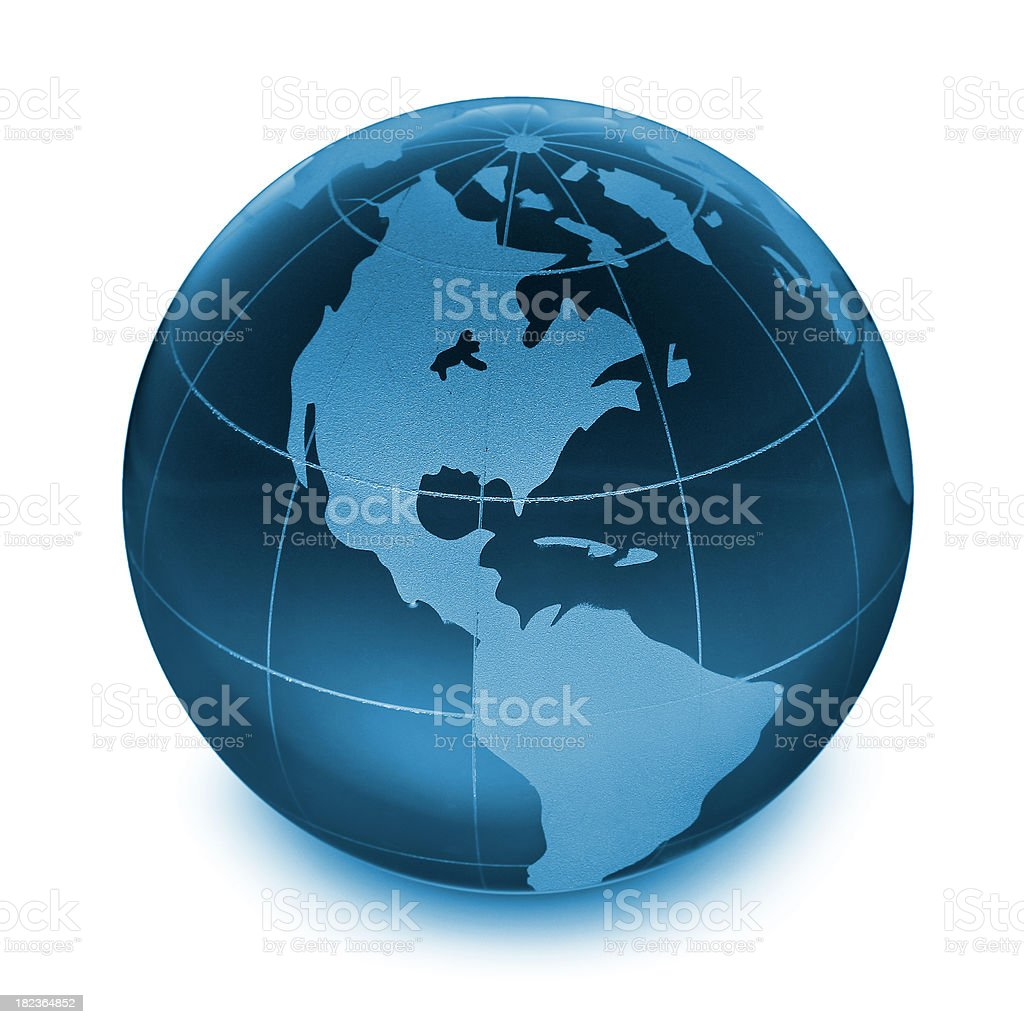 Earth globe (clipping path) royalty-free stock photo