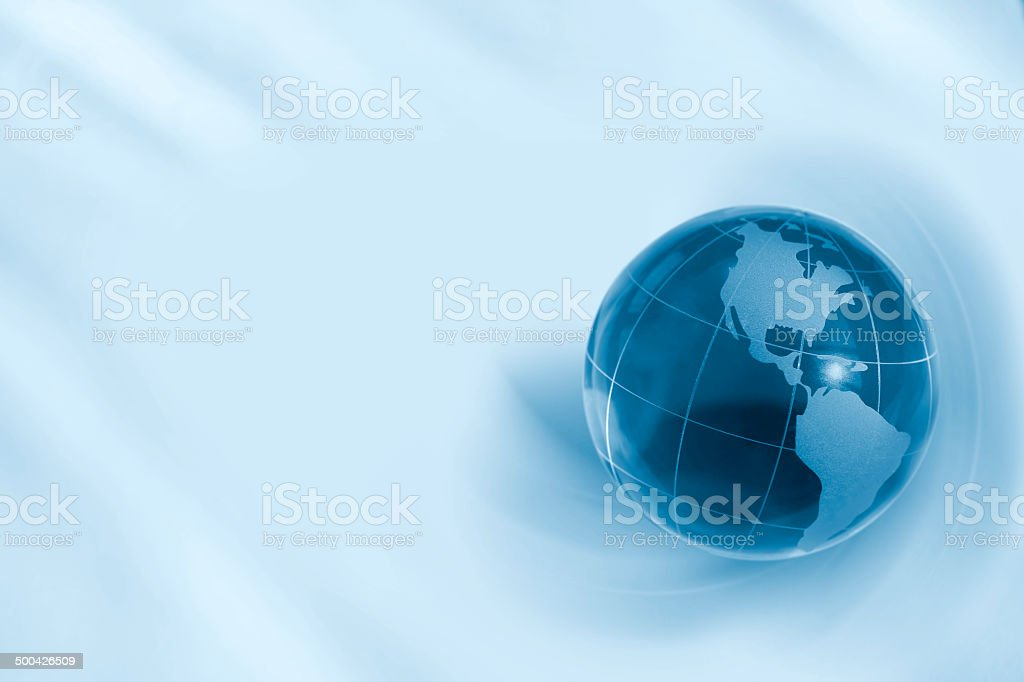 Earth globe with copyspace royalty-free stock photo