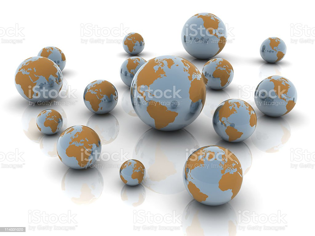 Earth Globes royalty-free stock photo