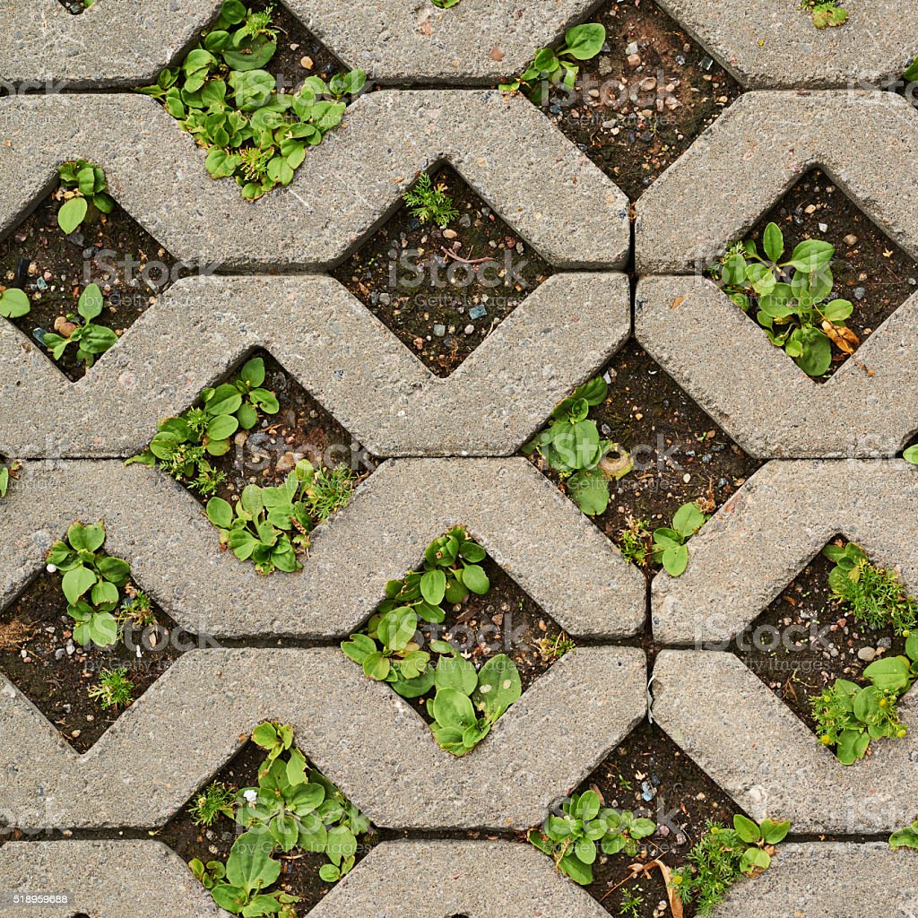 Earth ground covered with tiles stock photo