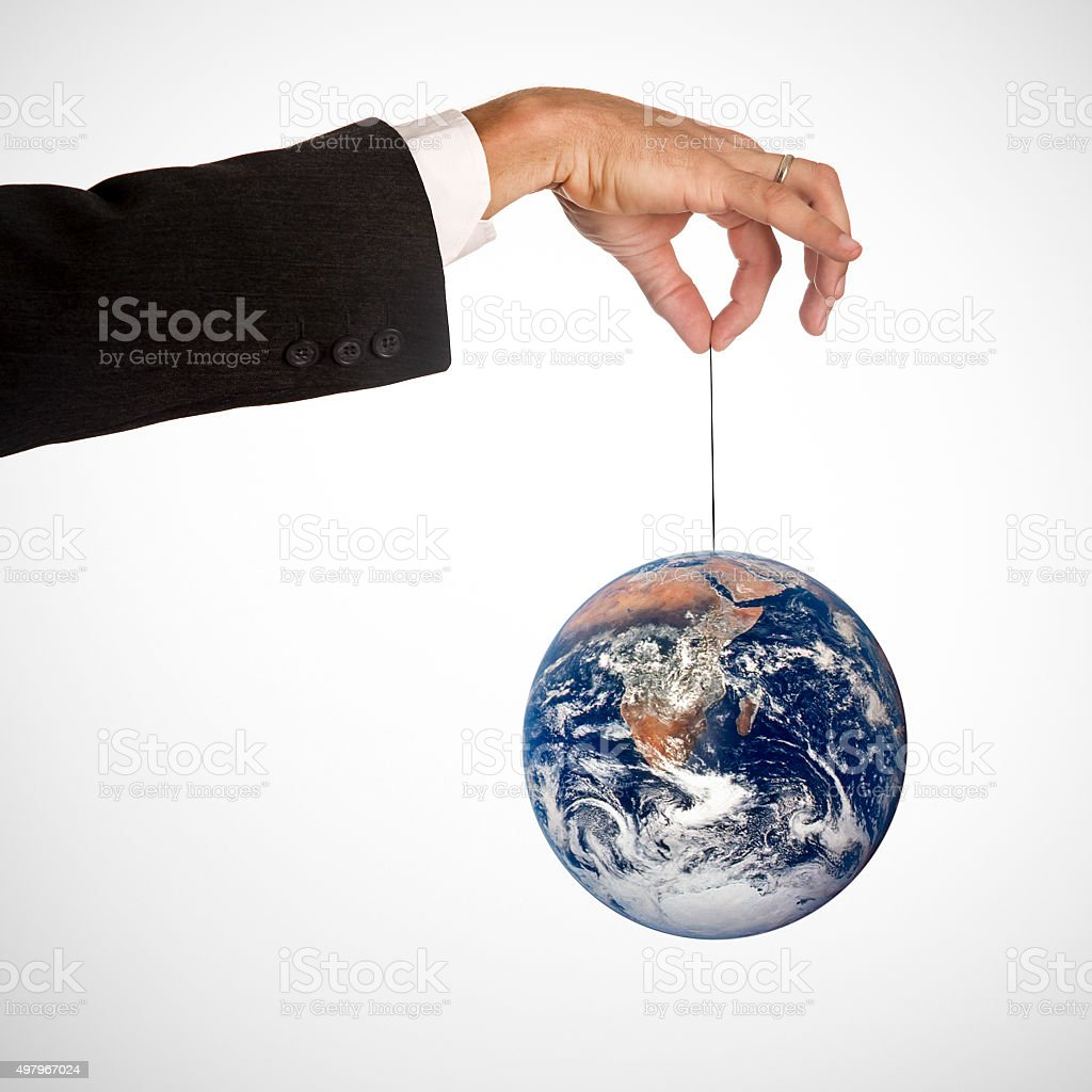 Earth hanging stock photo