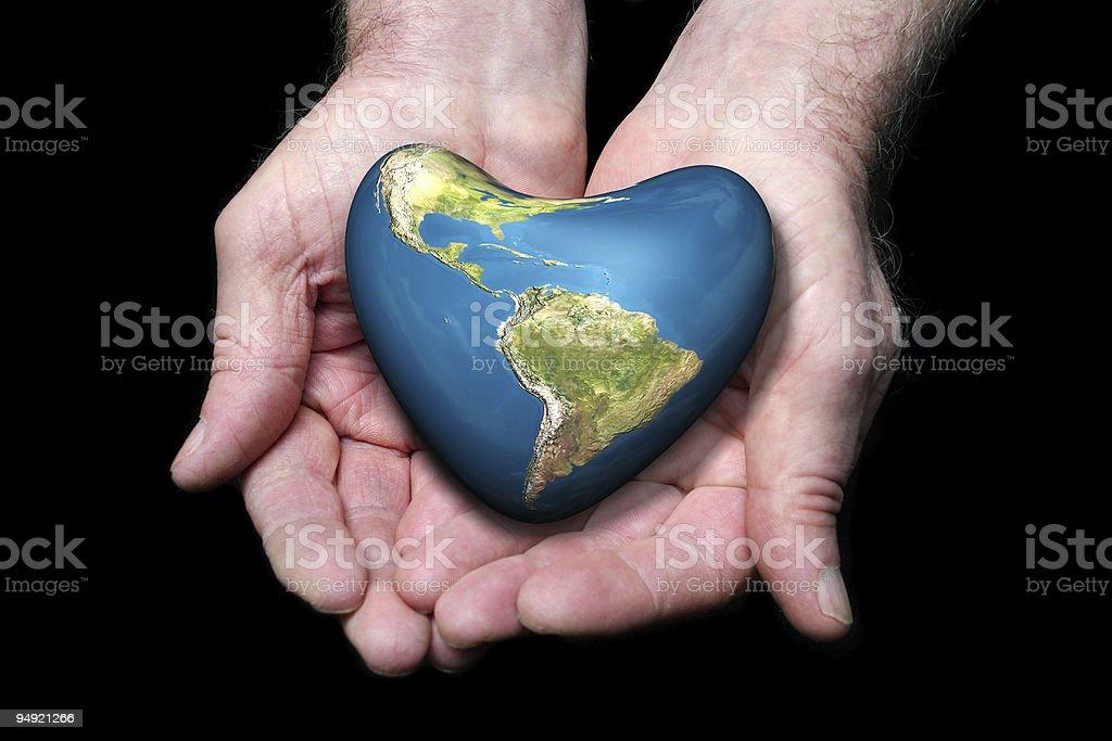 Earth heart royalty-free stock photo