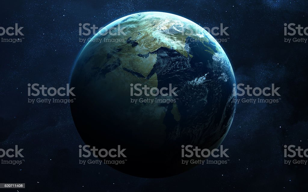 Earth - High resolution images presents planets of the solar stock photo