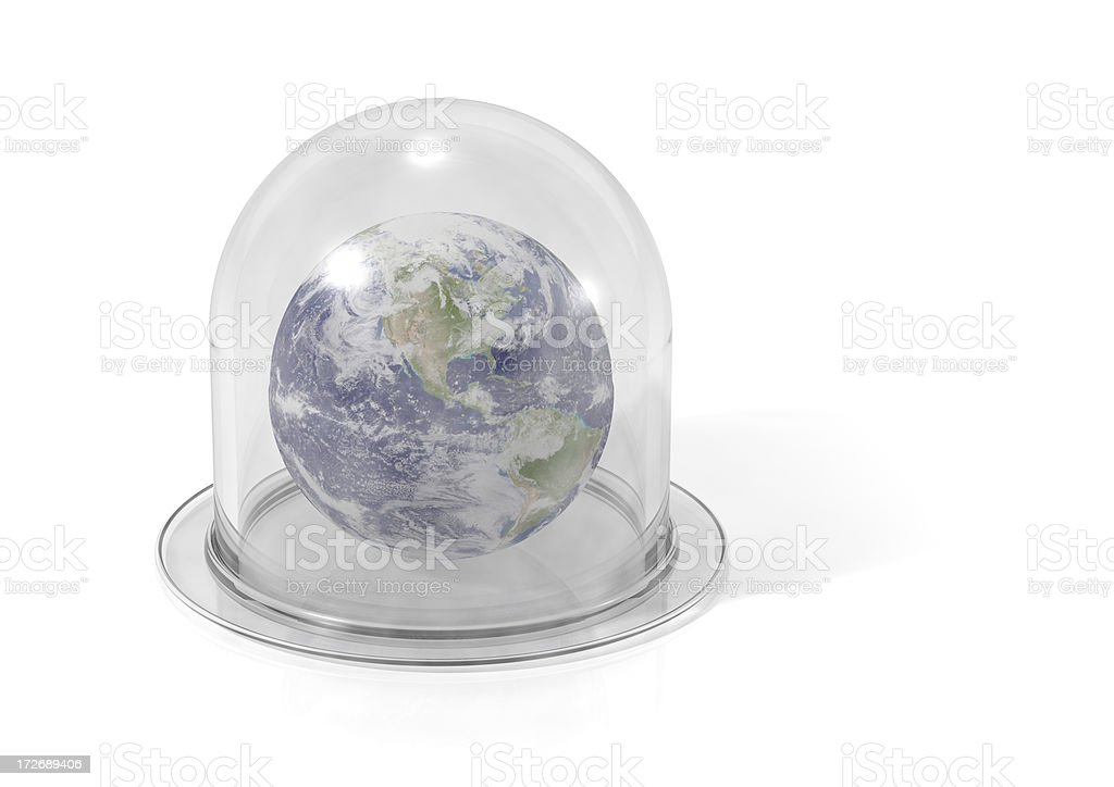 Earth In A Bell Jar royalty-free stock photo