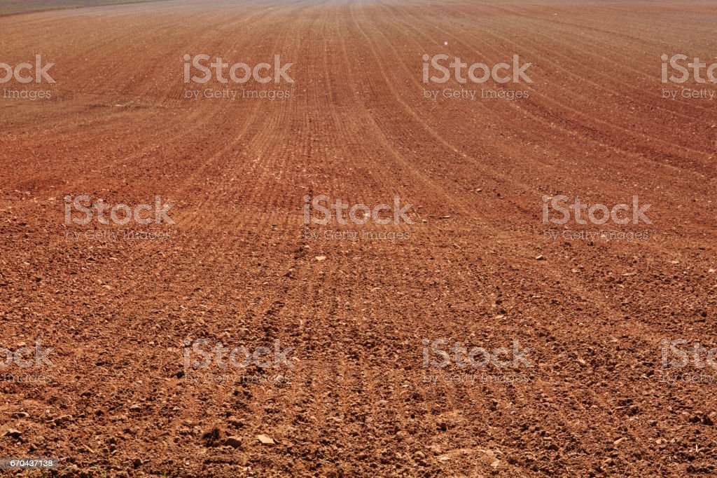 Earth in a field for agricultural cultivations stock photo