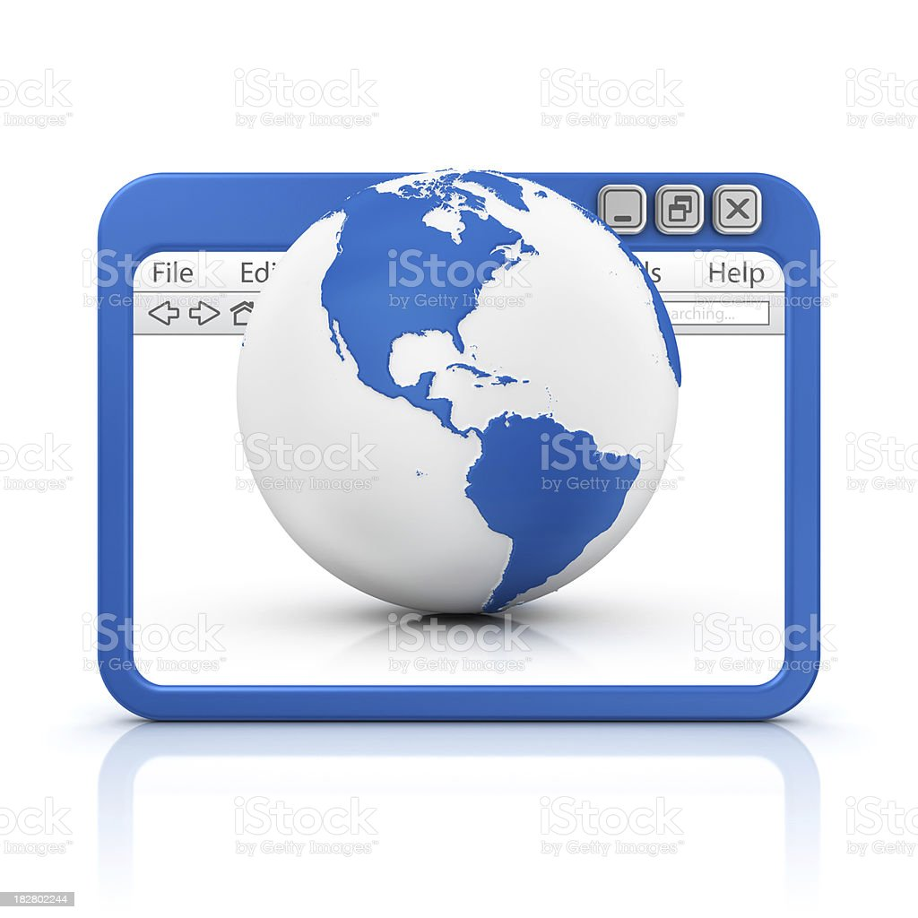earth in browser stock photo