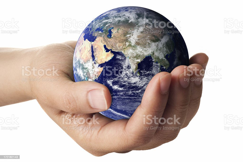Earth in Hand royalty-free stock photo