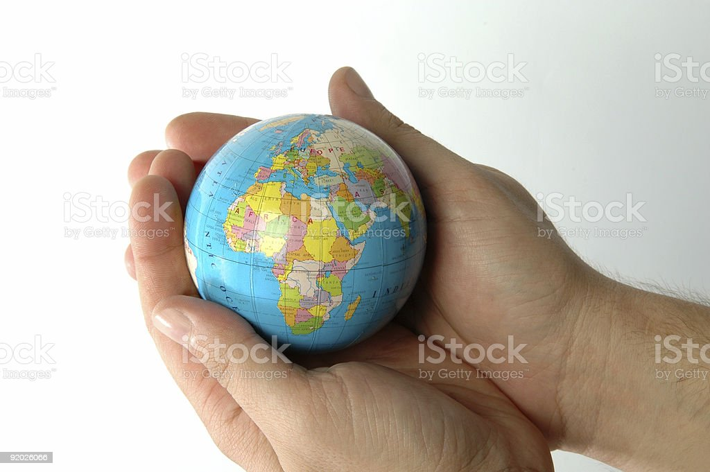 Earth in Hand Series royalty-free stock photo