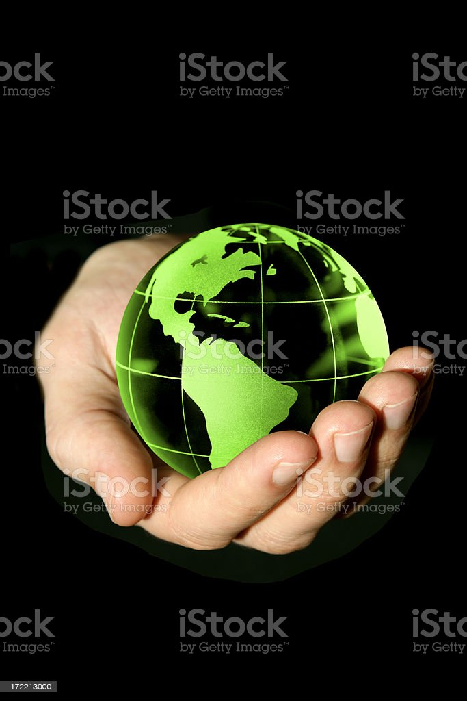 Earth in my hand royalty-free stock photo
