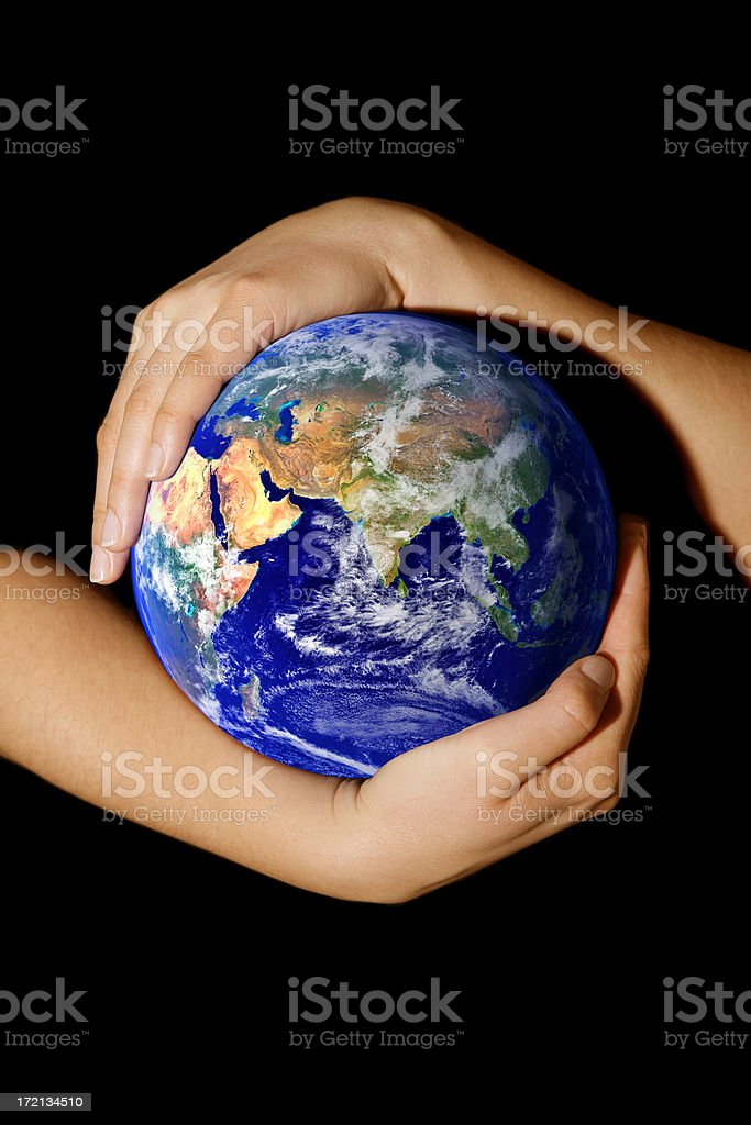 Earth in my hands - Asia royalty-free stock photo