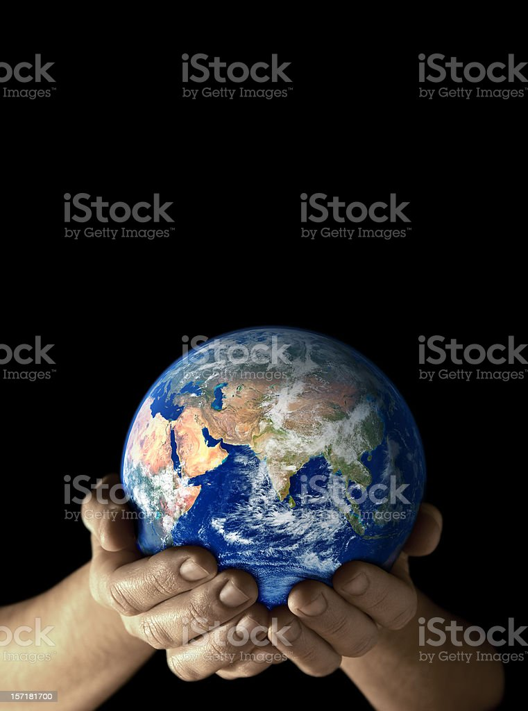 Earth in my hands - East royalty-free stock photo