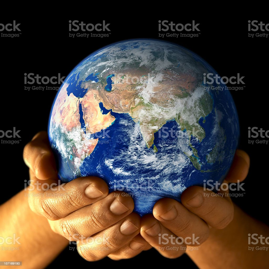 Earth in my hands - East view royalty-free stock photo