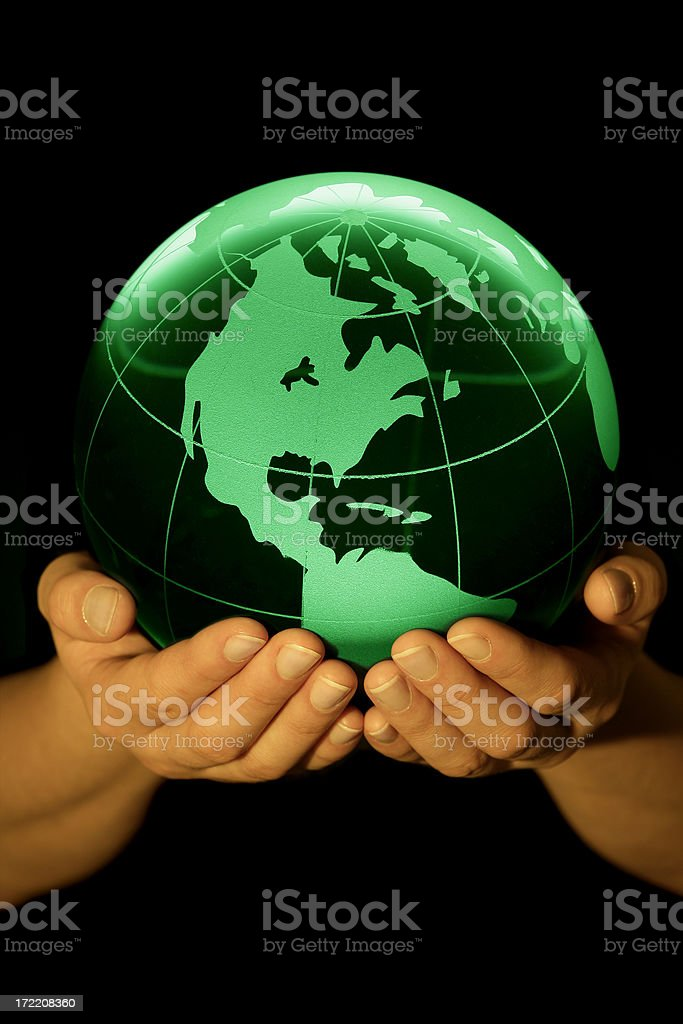 Earth in my hands royalty-free stock photo