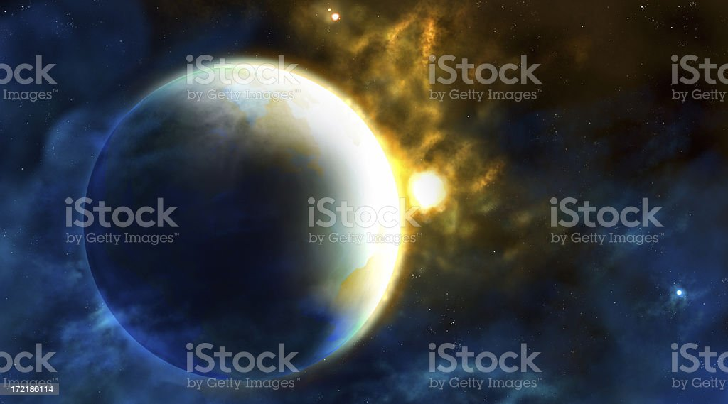 Earth in Space royalty-free stock photo