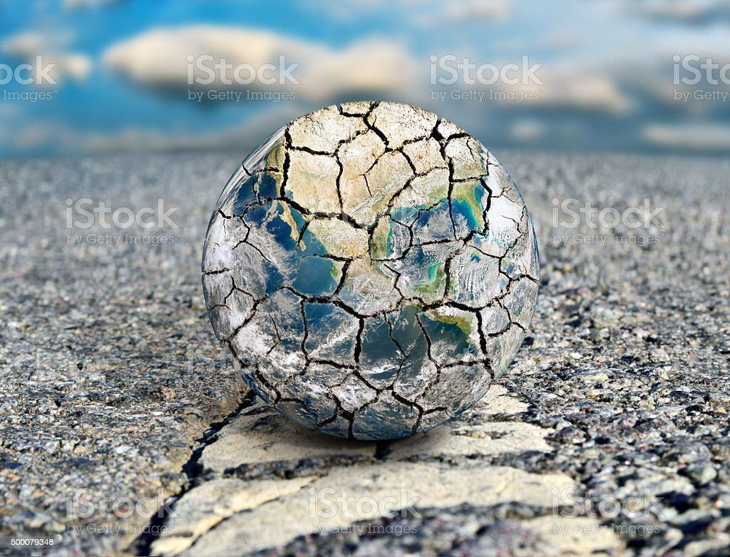 Earth is the path to ecological disaster. stock photo