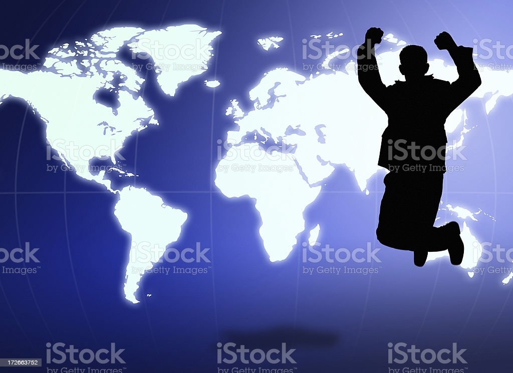 Earth Jumping royalty-free stock photo