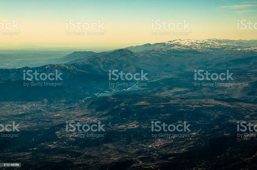 Earth - Landscape from an aerial view stock photo