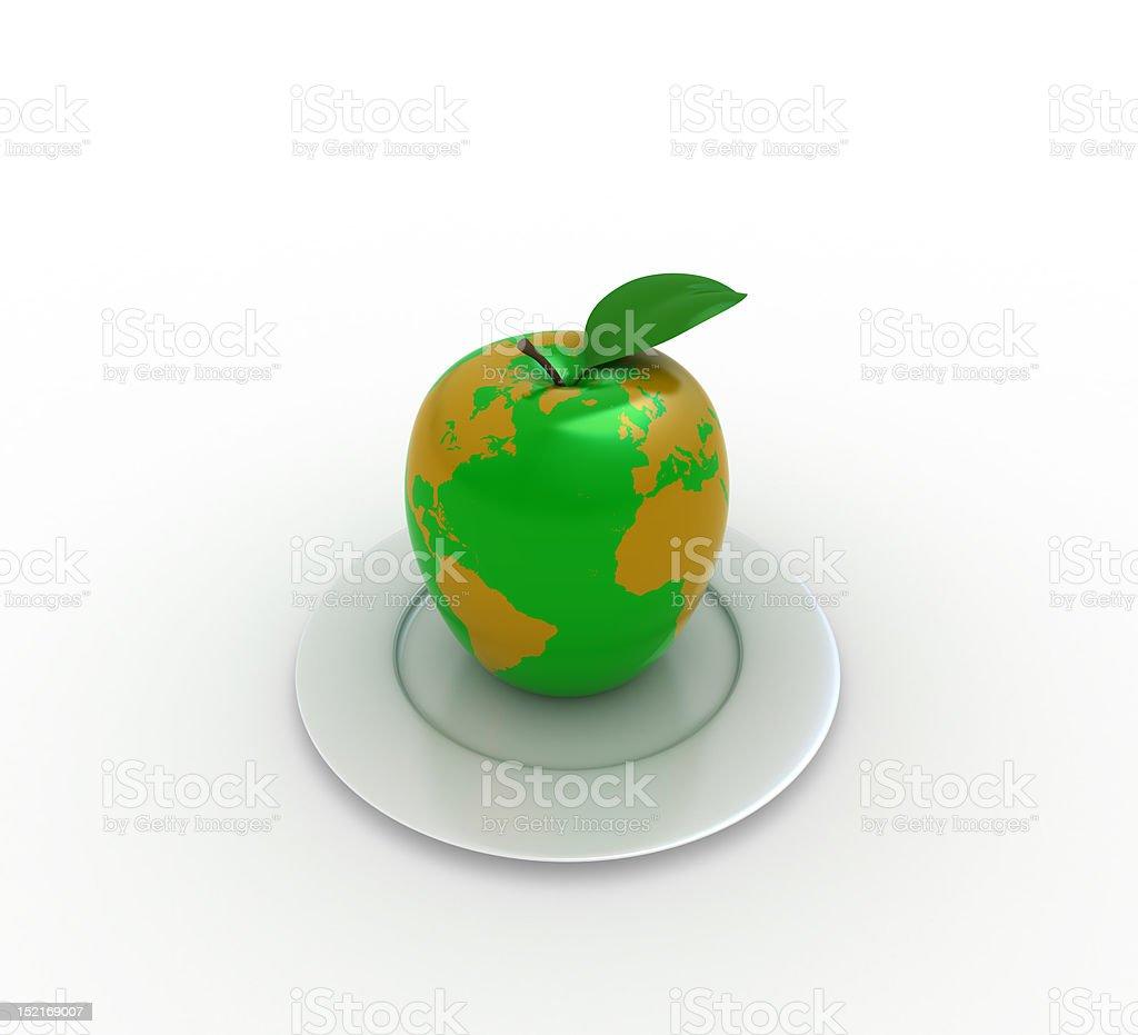 Earth like apple stock photo
