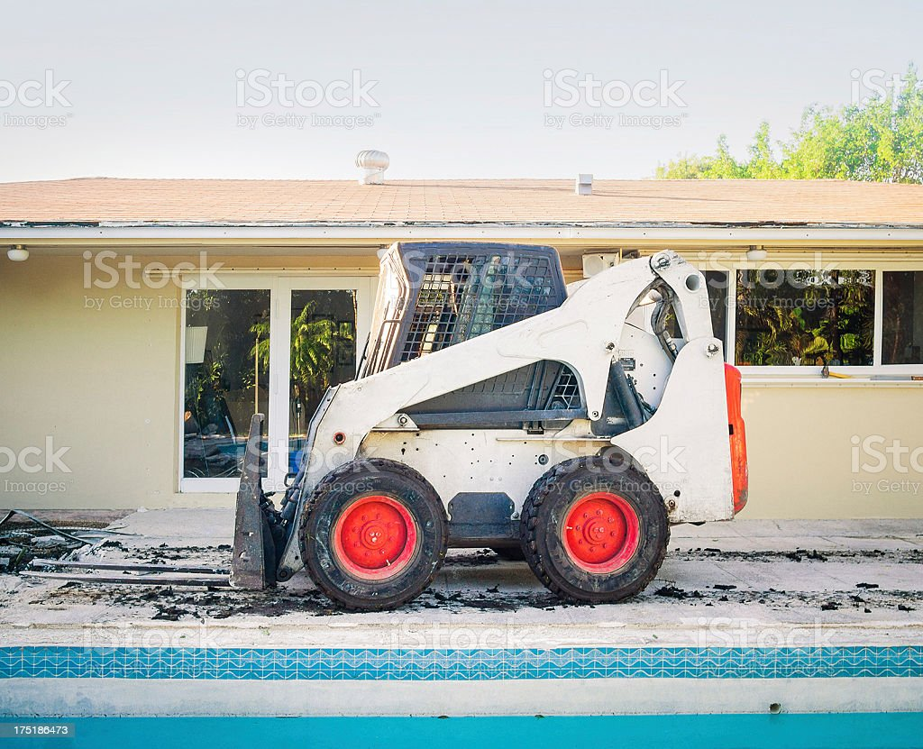 earth loader on construction site royalty-free stock photo