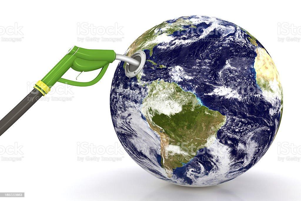 Earth Loading Fuel royalty-free stock photo