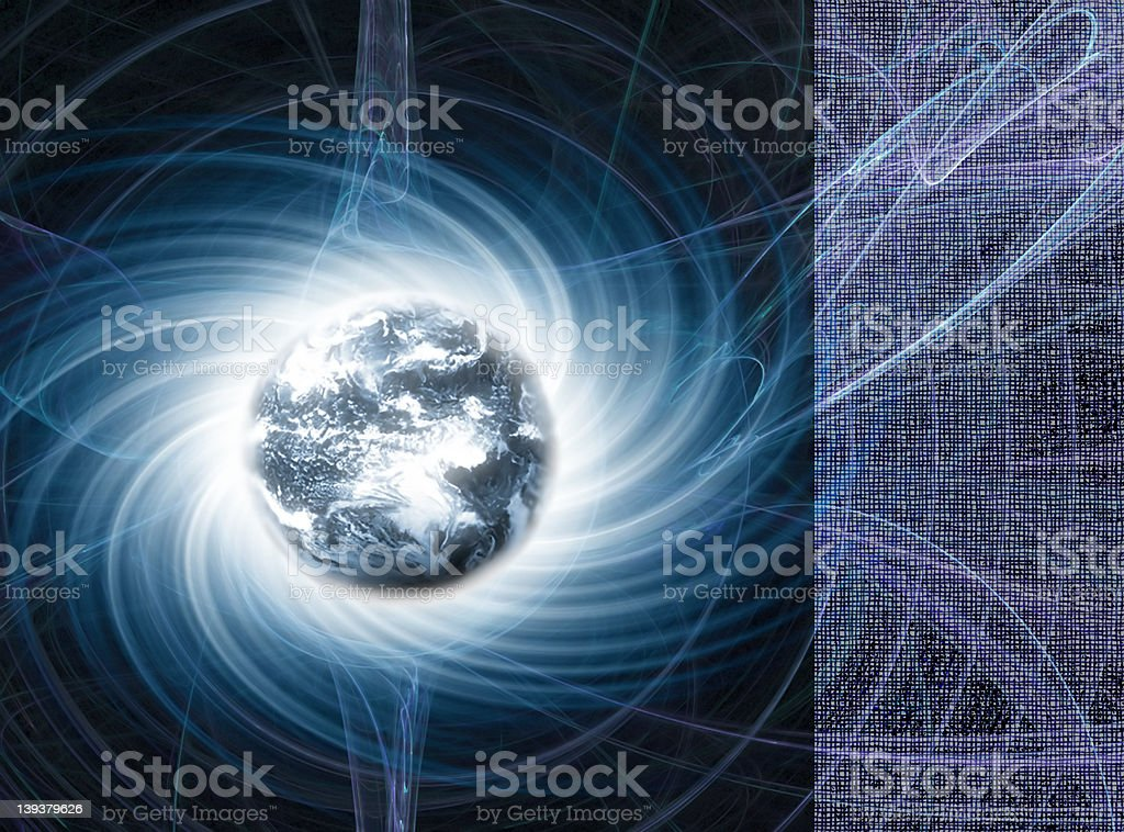 Earth - Magnetic Energy royalty-free stock photo