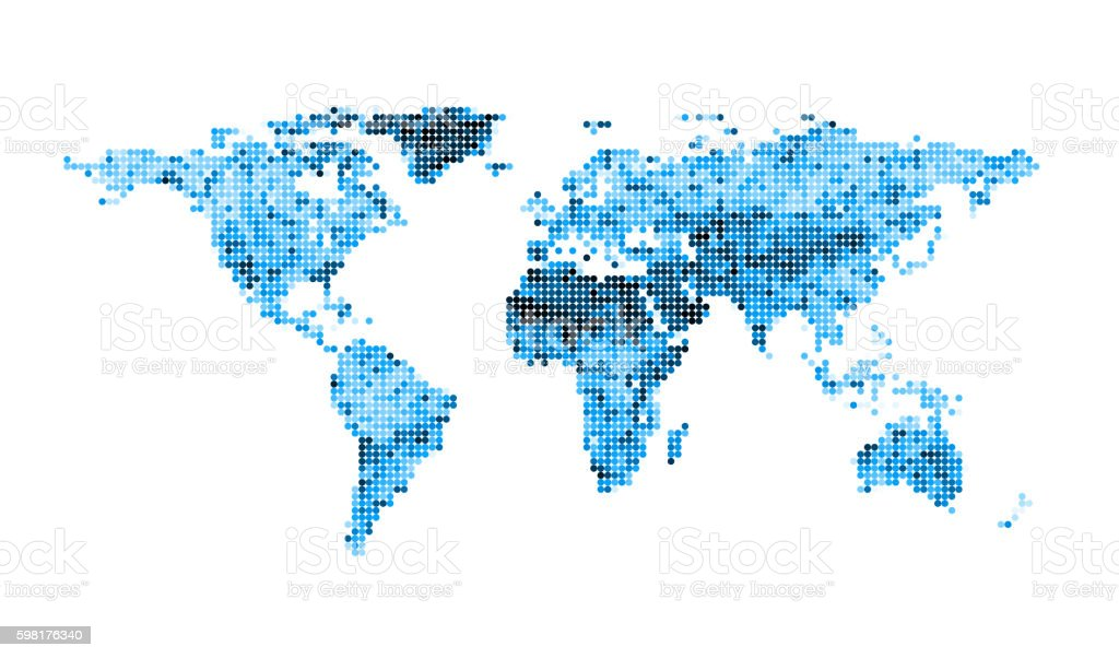 Earth map digital concept stock photo