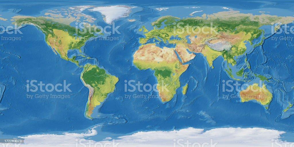 Earth Map stock photo