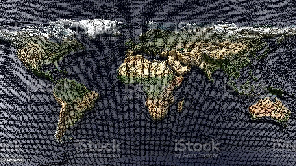 earth map stock photo