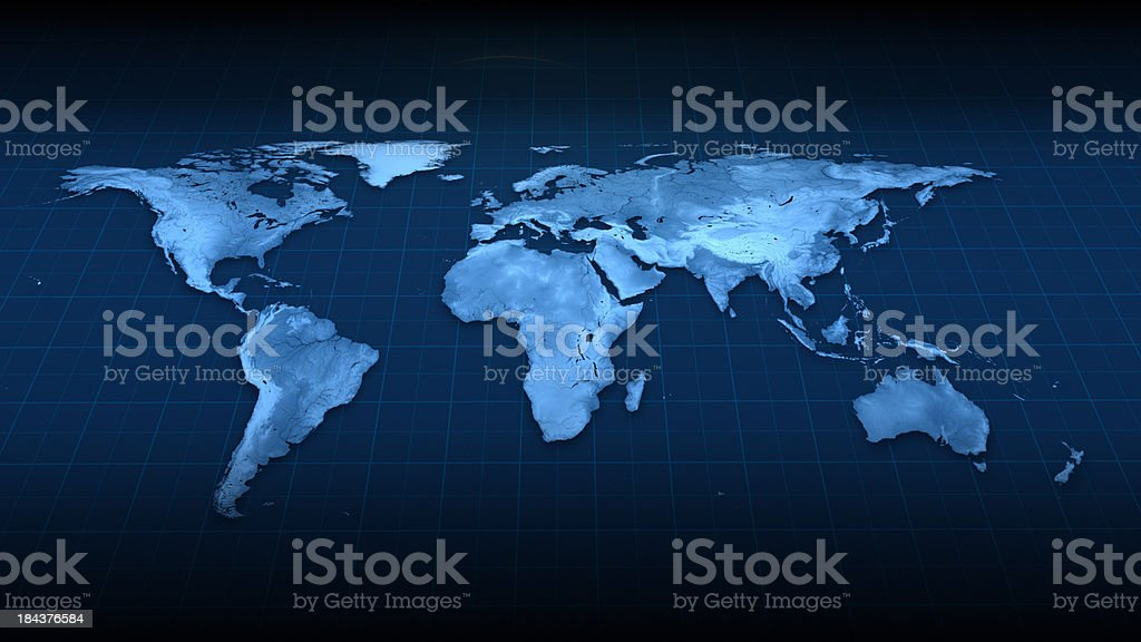 Earth Map top view stock photo