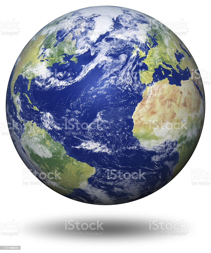 Earth Model: Atlantic View stock photo