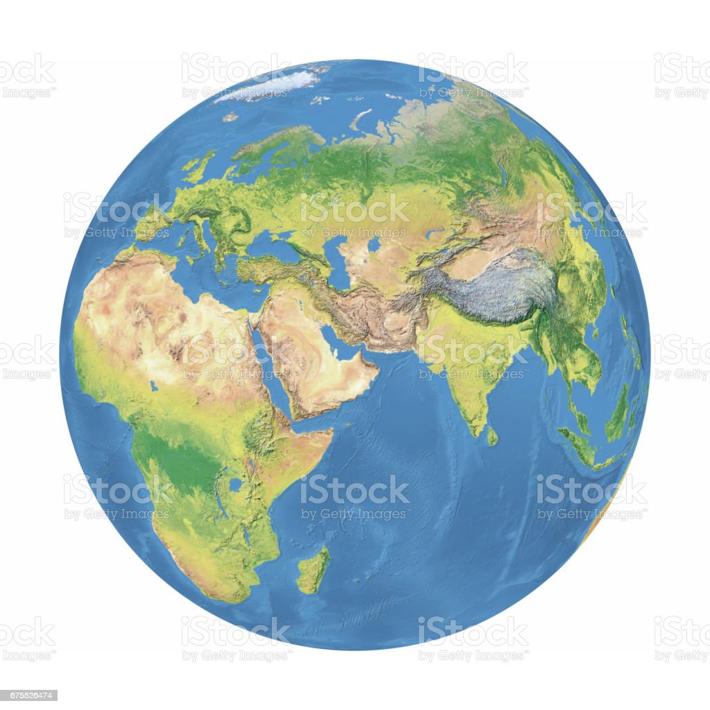 Earth Model:Middle East View stock photo