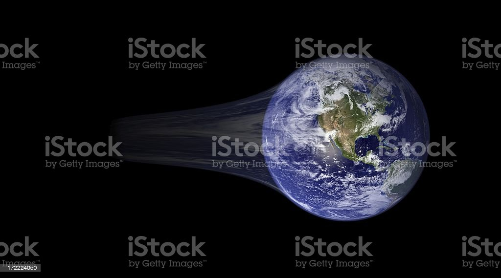 Earth Motion stock photo