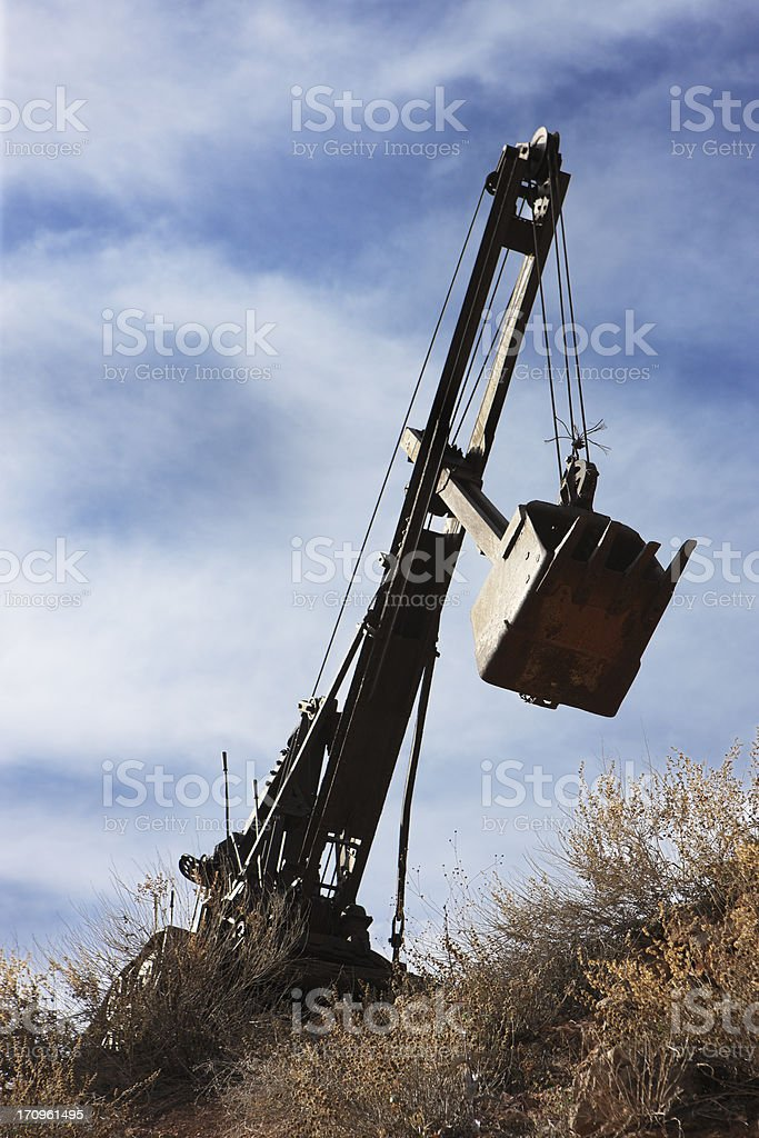 Earth Mover Construction Vehicle Scoop stock photo