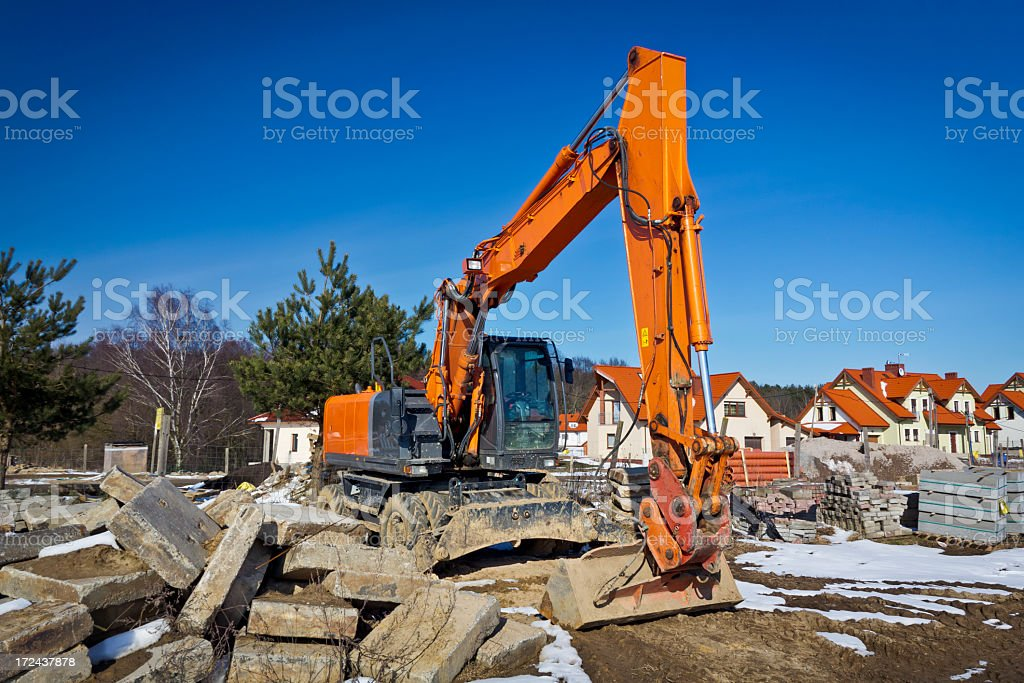 Earth Mover in construction site royalty-free stock photo