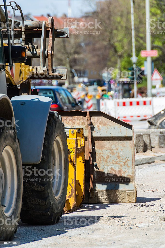 Earth Mover on a Construction Site royalty-free stock photo