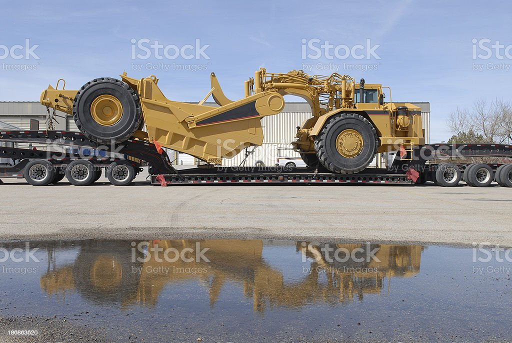 Earth Mover on Trailer royalty-free stock photo