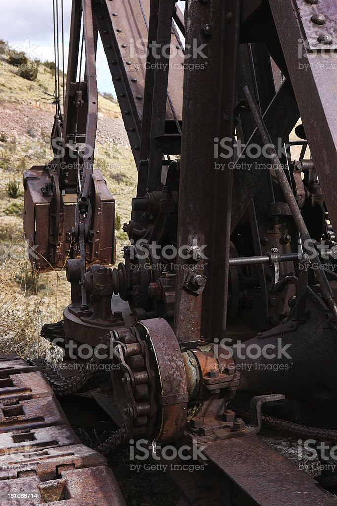Earth Mover Shovel Rusted Construction Machine royalty-free stock photo